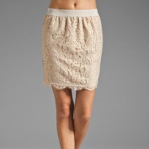 Joie Abelina Metallica Lace Skirt